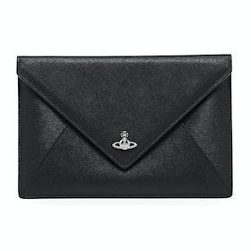 Saco de Mão Senhora Vivienne Westwood Victoria Envelope Clutch - Black