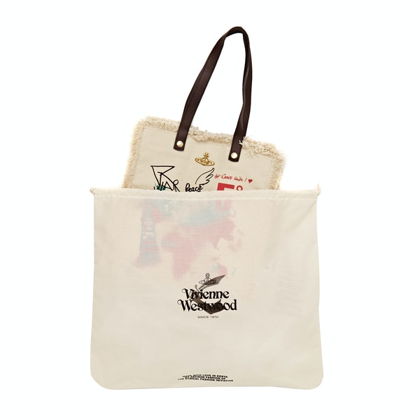 Vivienne Westwood World Map Utility Women's Shopper Bag