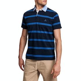 Gant D1. Contrast Heavy Rugger Polo Shirt - Evening Blue