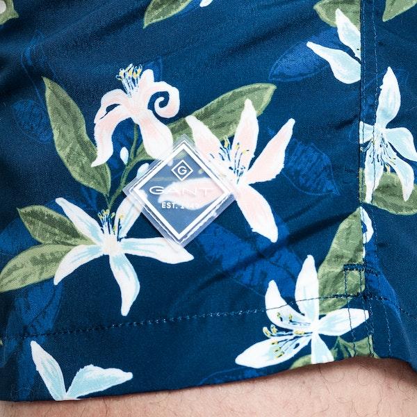 Gant Lemon Flowers Classic Fit Badeshorts
