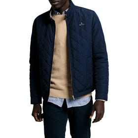 Gant D1. The Quilted Windcheater ジャケット - Evening Blue