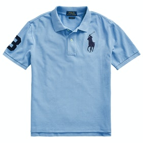 Polo Ralph Lauren Logo Knit Junior Boy's Polo Shirt - Fall Blue