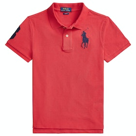 Polo Ralph Lauren Logo Knit Junior Boy's Polo Shirt - Sunrise Red