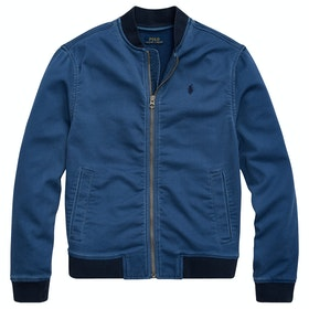 Polo Ralph Lauren Stretch Cotton Baseball Boy's Jacket - Federal Blue