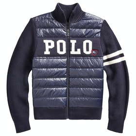 Polo Ralph Lauren Hybrid Full-Zip Sweater - Rl Navy