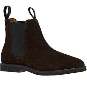 Bottes Femme Sebago Chelsea Suede Polaris - Dark Brown