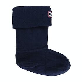 Hunter Original Fleece Kinder Wellingtons Socks - Navy
