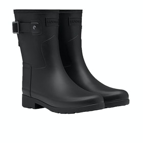 Hunter Original Refined Short Womens Wellies - Black
