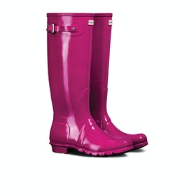 Hunter Original Tall Gloss Womens Wellies - Red Algae