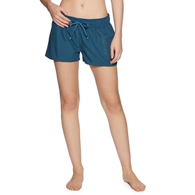 Protest Evidence 18 Womens Beach Shorts - Gas Blue
