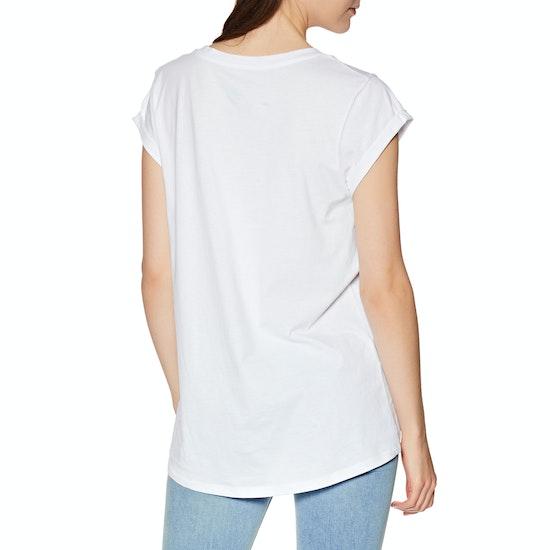 Animal Moon Flower Womens Short Sleeve T-Shirt