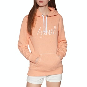 Pullover à Capuche Femme Animal Sketched - Canyon Sunset Orange Marl