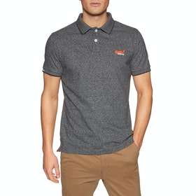 Chemise Polo Superdry Orange Label Jersey - Volcanic Black Feeder