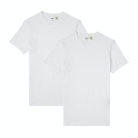Levi's Slim 2pk Crewneck Short Sleeve T-Shirt - Two-pack Tee White + White
