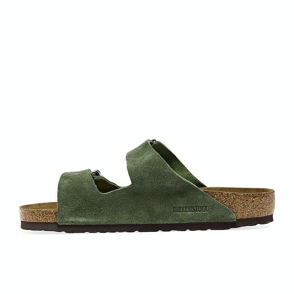 Birkenstock Arizona Suede Leather Soft Footbed Sandals