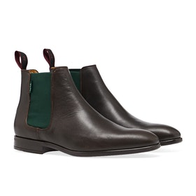 Paul Smith Gerald Boots - Dark Brown Leather
