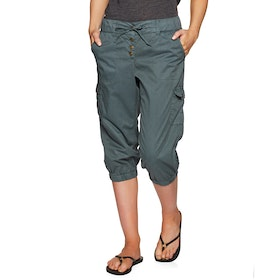 Protest Soup 20 3/4 Trousers - Grey Day