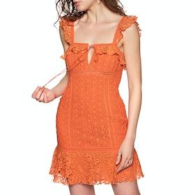 Free People Cross My Heart Mini Dress - Orange