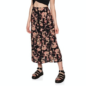 Free People Retro Love Midi Skirt - Black Combo