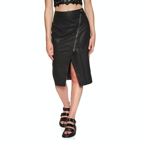 Free People Wrapped Up Vegan Midi Skirt - Black