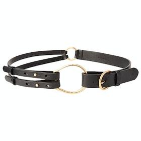 Lauren Ralph Lauren Tri Strap Casual Womens 革製ベルト - Black
