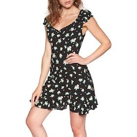 Free People Like A Lady Printed Mini Dress - Black