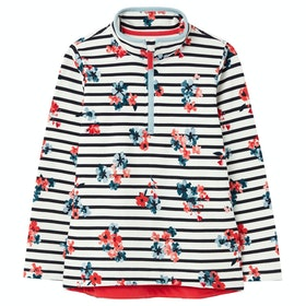 Joules Fairdale Half Zip Girl's Sweater - White Stripe Posey