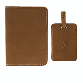 Targhetta per Bagaglio Chapman Passport Holder And - Tan