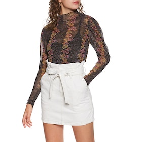 Free People Amber Dames Top - Black Combo