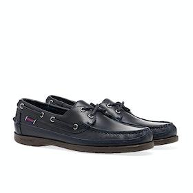 Sebago Schooner Dress Shoes - Blue Navy Gum