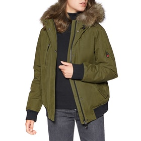 49 Winters The Bomber Dames Donsjas - Olive Natural