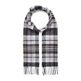 Country Attire Made In Scotland Cashmere Scarf - Grey Pink Camel Check