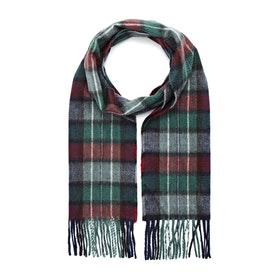 Country Attire Made In Scotland Scarf - Burgundy Green Check