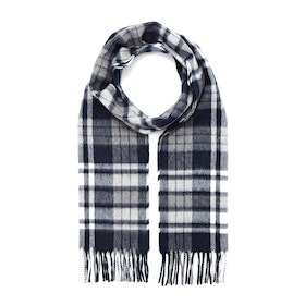 Country Attire Made In Scotland Lambswool Mix Scarf - Navy White Check