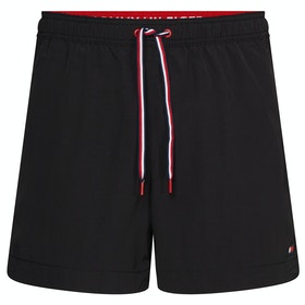Tommy Hilfiger Plain Medium Drawstring Swim Shorts - Pvh Black