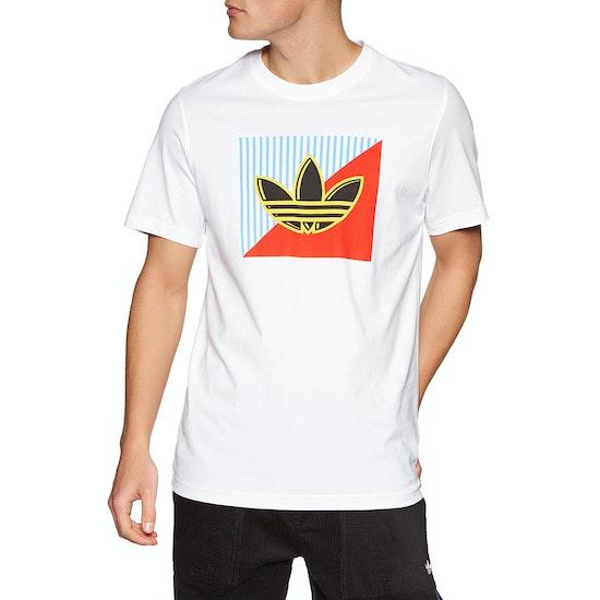 Adidas Originals Diagonal Logo Short Sleeve T-Shirt