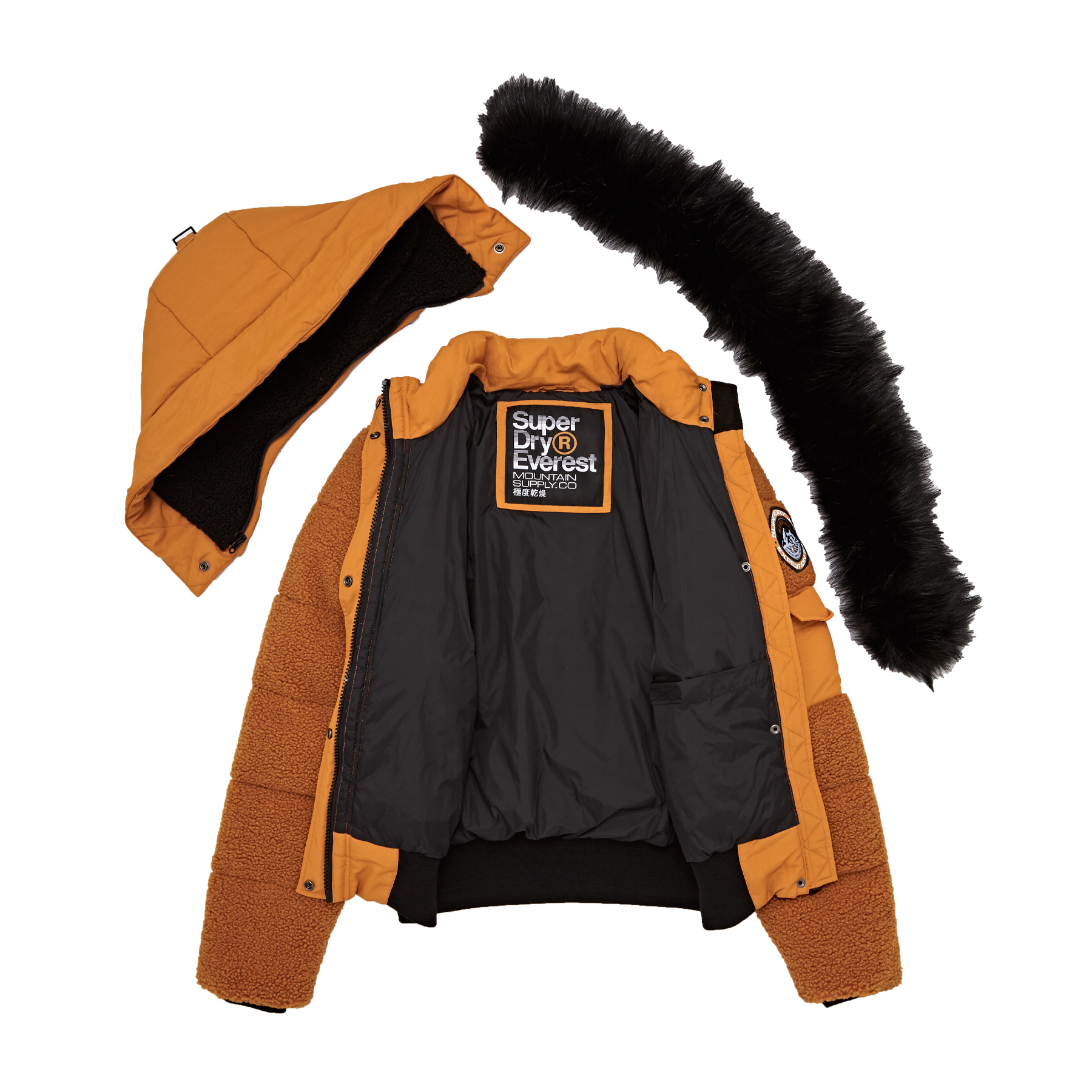 Superdry Ella Sherpa Bomber Damen Jacke | Kostenlose