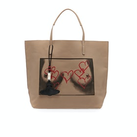 Vivienne Westwood Punk Leather Women's Shopper Bag - Natural
