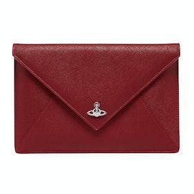 Saco de Mão Senhora Vivienne Westwood Victoria Envelope Clutch - Red