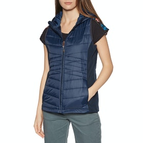 Protest Palmer Womens Body Warmer - Ground Blue