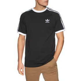 Adidas Originals 3 Stripe Short Sleeve T-Shirt - Black