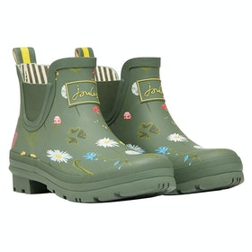Joules Wellibob Ladies Wellingtons - Green Floral