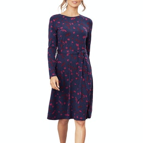 Joules Monica Women's Dress - Navy Berry Floral