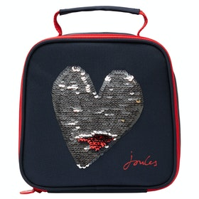 Joules Munch Kid's Lunch Bag - Blue Heart