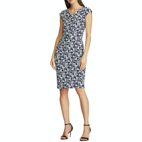 Abito Donna Lauren Ralph Lauren Theona Cap Sleeve Day - Lighthouse Navy/colonial Crm