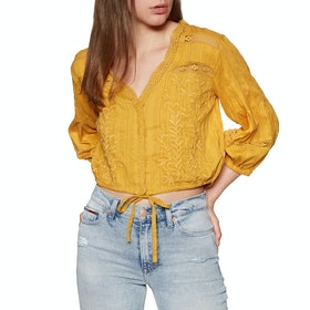 Free People Follow Your Heart Women's Top - Gold