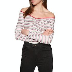 Free People Put A Stripe On It Women's Bodysuit - Ivory Combo