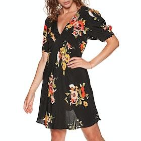Free People Neon Garden Mini Dress - Black