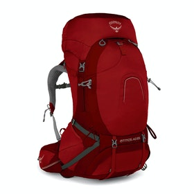 Osprey Atmos AG 65 Hiking Backpack - Rigby Red