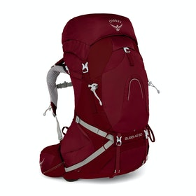 Osprey Aura AG 50 Womens Hiking Backpack - Gamma Red